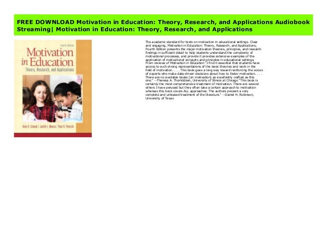 Motivation in Education: Theory, Research, and Applications https://sugandilospotrtr454.blogspot.com.au/?book=0133017524 #...