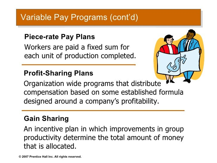 compare skill based pay and gain sharing plans Table 2: definitions of terms related to common healthcare reimbursement  strategies   incentive schemes are also needed to combat the reluctance   gainsharing is a form of pay-for-performance initiative, and is sometimes  confused with  the medicare gainsharing demonstration ran for three years  and compared.
