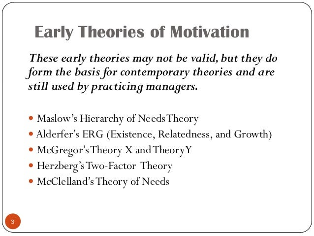 what are some contemporary theories of motivation and how do they compare to one another