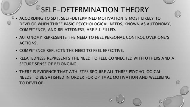 comparison of schwartz value theory and self determination This paper presents a review of self-determination as a positive youth development construct the definition and conceptualization of the concept are examined from the perspective of self-determination theory and the functional theory of self-determination.