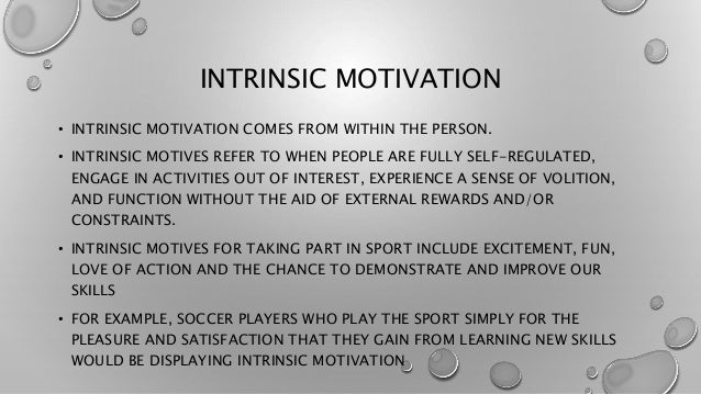 how to build intrinsic motivation in athletes
