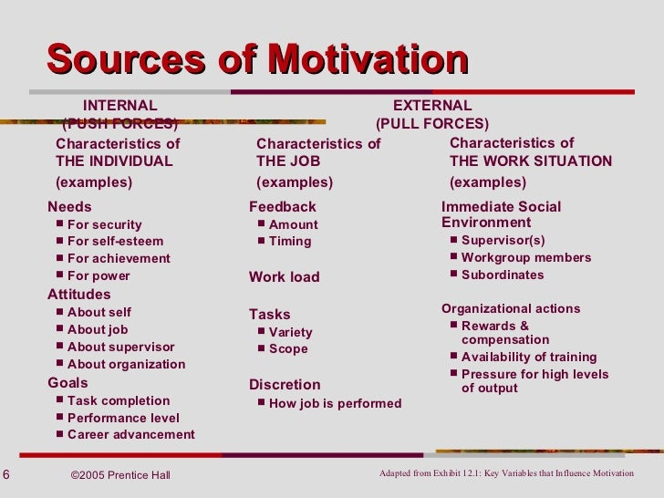 an analysis of the theories of motivation The expectancy theory states that employee's motivation is an outcome of how much an individual wants a reward (valence), the assessment that the likelihood that the effort will lead to expected performance (expectancy) and the belief that the performance will lead to reward (instrumentality).