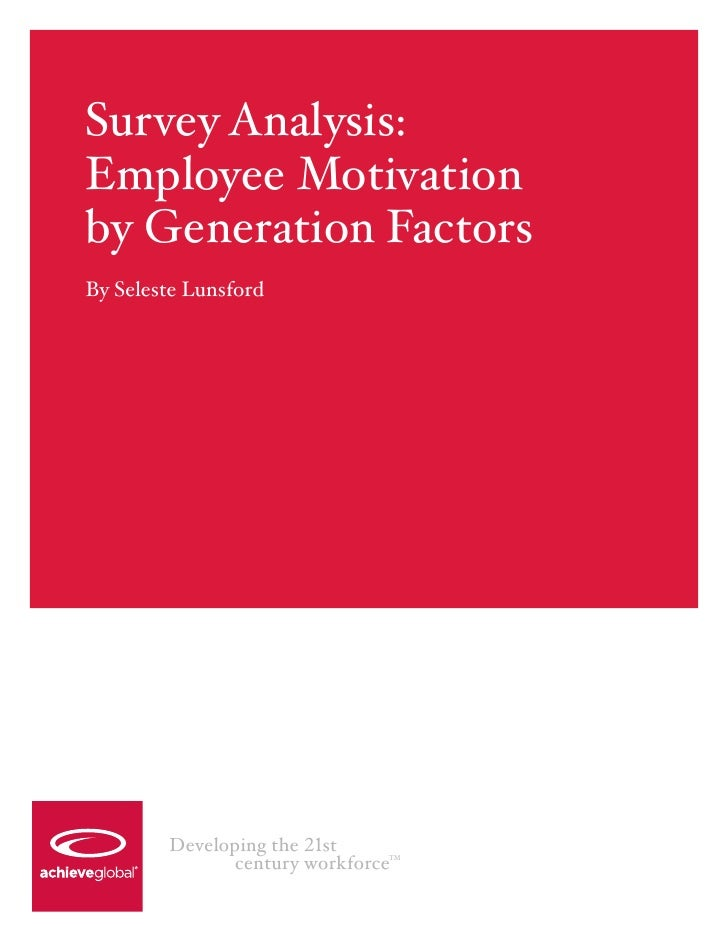 an analysis of the methods to achieve employee motivation In addition to the theories, among the practical methods of employee motivation is that employees should always like what they do in order to achieve optimal productivity in addition, employees should be rewarded according to their performance, their reputation should be respected and also they should be given a purpose in line with their .
