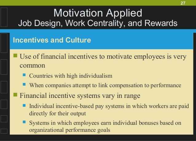 systems of incentives and rewards The role of monetary rewards in lean systems is controversial some lean advocates oppose using monetary incentives, arguing that they are ineffective and counterproductive others see compensation programs as critical organization tools for reinforcing the knowledge, skills and behaviors needed in lean systems.