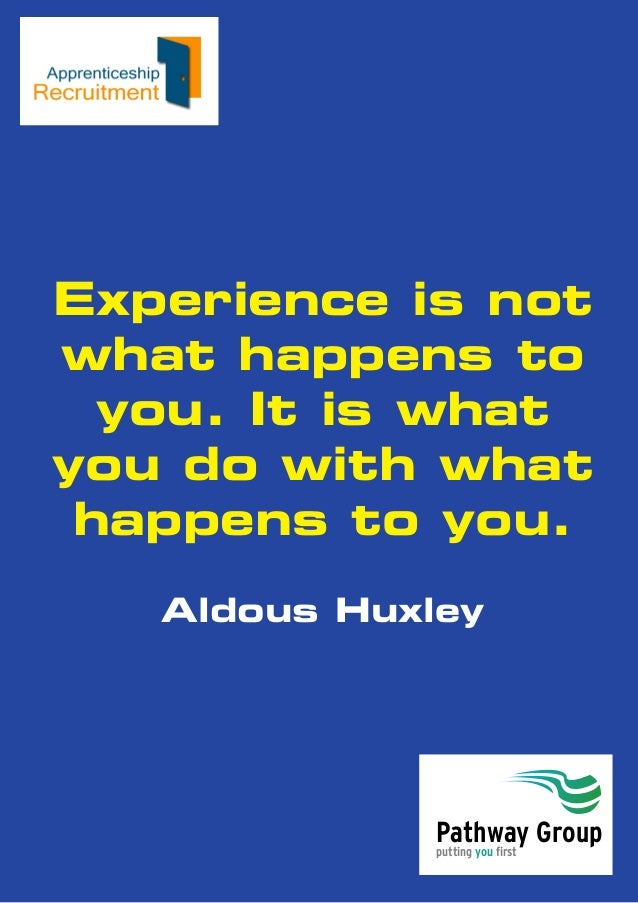 putting you first Pathway Group Experience is not what happens to you. It is what you do with what happens to you. Aldous ...