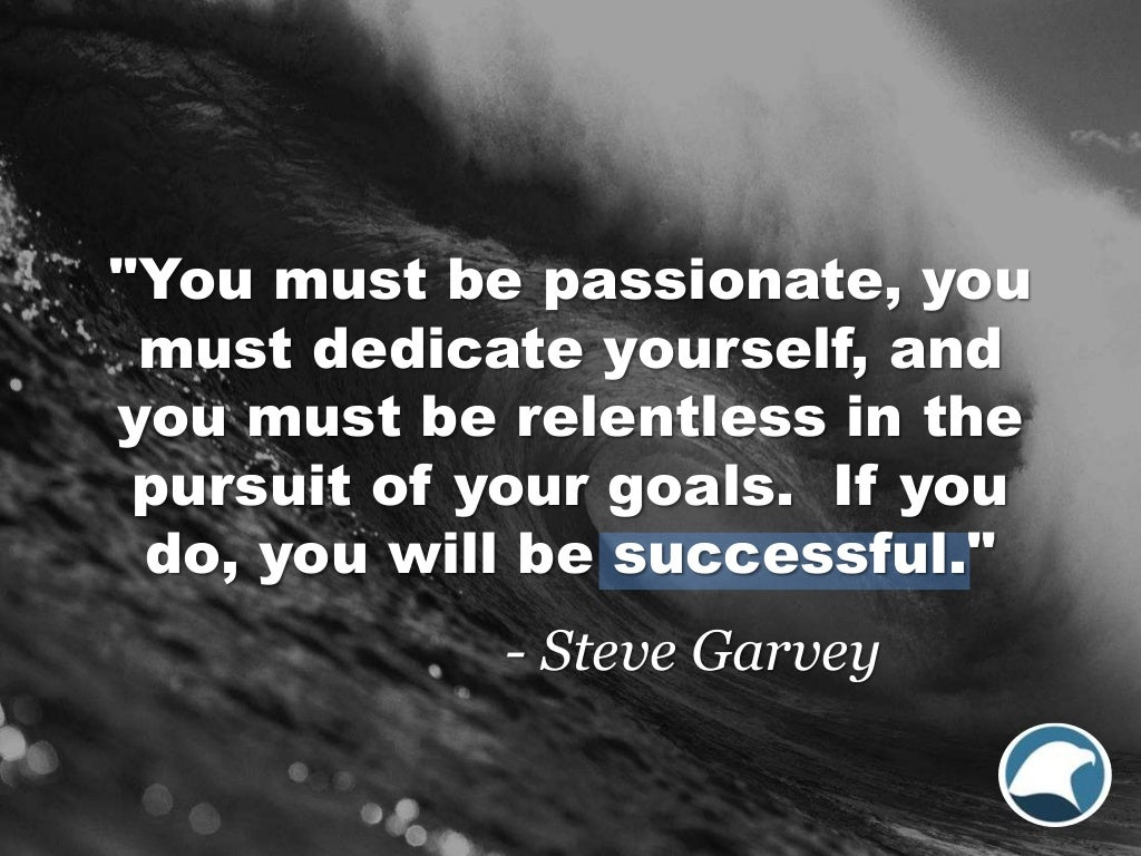 You Must Be Passionate You