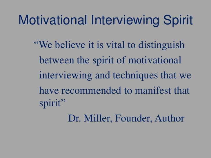 Motivational Interviewing Methods