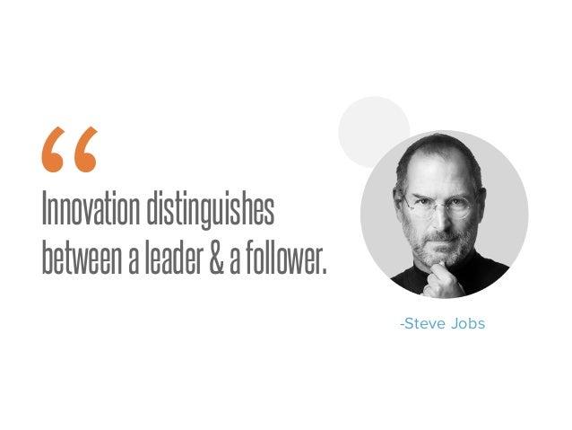 "Innovationdistinguishes betweenaleader&afollower."" -Steve Jobs"