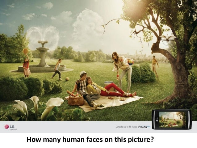 How many human faces on this picture?