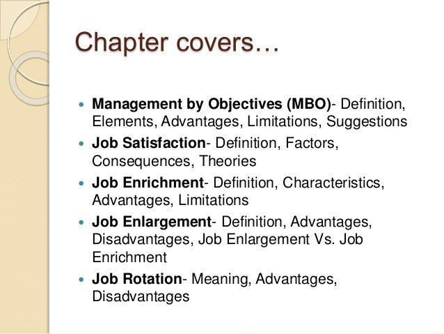 Mbo is the motivating factor or controlling technique