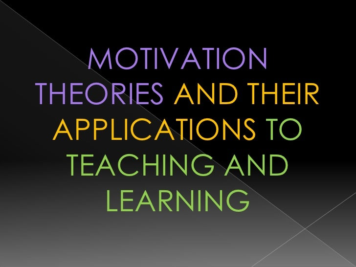 motivational theories in education