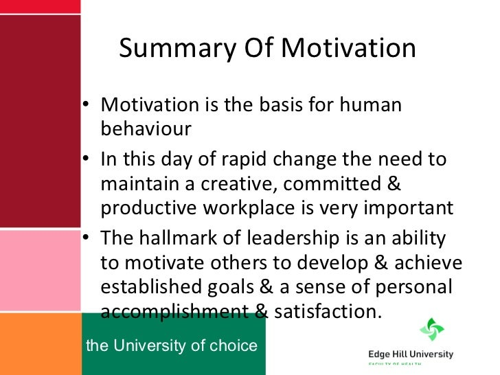 leadership and motivational theory Many theories of motivation were developed in the mid to late twentieth century,   according to this theory, your leadership style is strongly influenced by your.