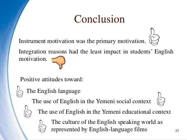 Motivation and attitudes towards learning english