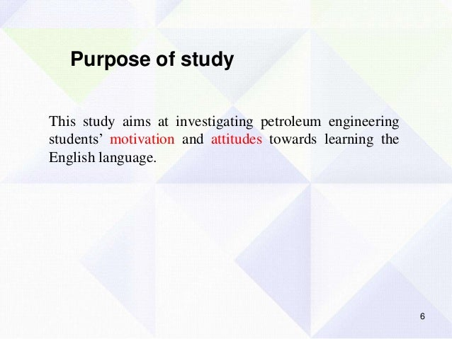the motivation towards learning english Motivation to foreign language learning at  learners' attitudes towards learning the english  for studying the motivation and attitudes towards the.