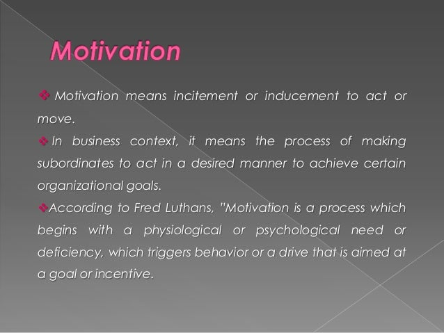 leadership and motivation in business