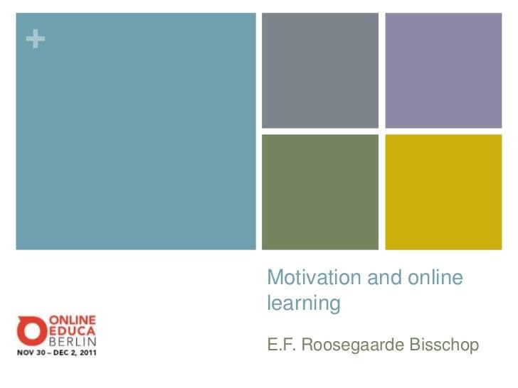 +    Motivation and online    learning    E.F. Roosegaarde Bisschop