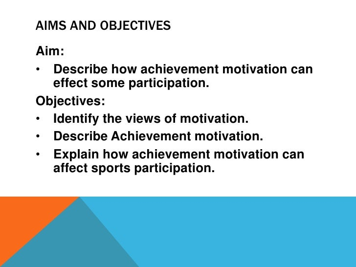 describe motivation and how it affects sports performance