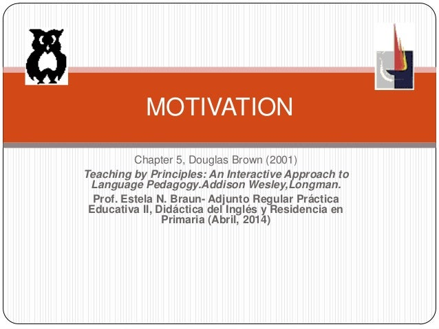 Chapter 5, Douglas Brown (2001) Teaching by Principles: An Interactive Approach to Language Pedagogy.Addison Wesley,Longma...