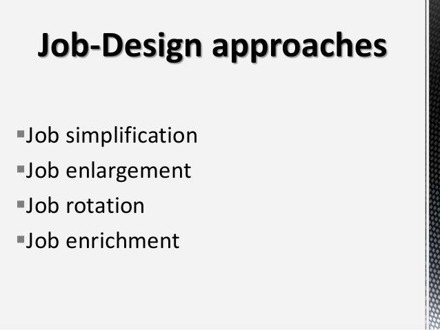 Motivation job design and performance
