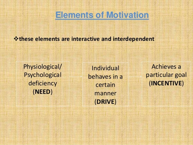 motivation in the workplace and elements Chapter 14 motivating employees  motivation is clearly important for someone  beyond basic workplace needs and addresses the self-actualization needs that most.