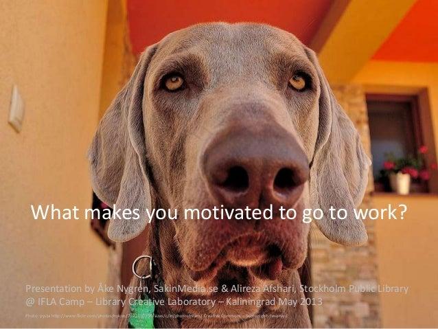 What makes you motivated to go to work? Presentation by Åke Nygren, SakinMedia.se & Alireza Afshari, Stockholm Public Libr...
