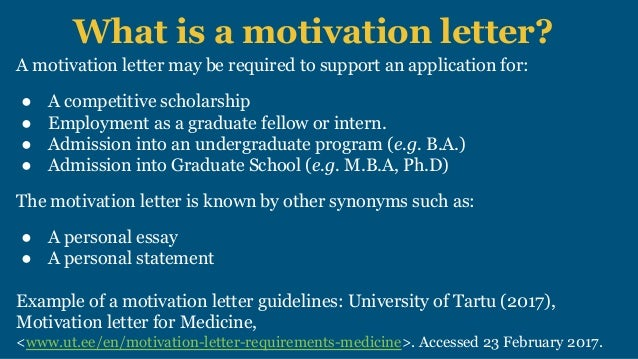Motivation letter scholarships and college applications 5 what is a motivation letter altavistaventures Images