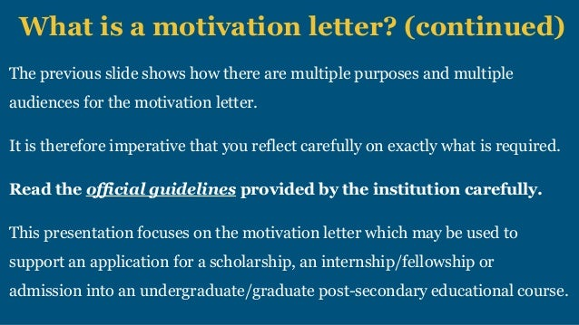 Motivation letter scholarships and college applications 6 what is a motivation letter altavistaventures Gallery