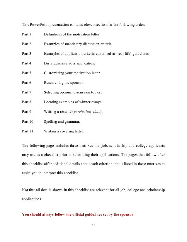 motivation letter and motivation essays college applications  11