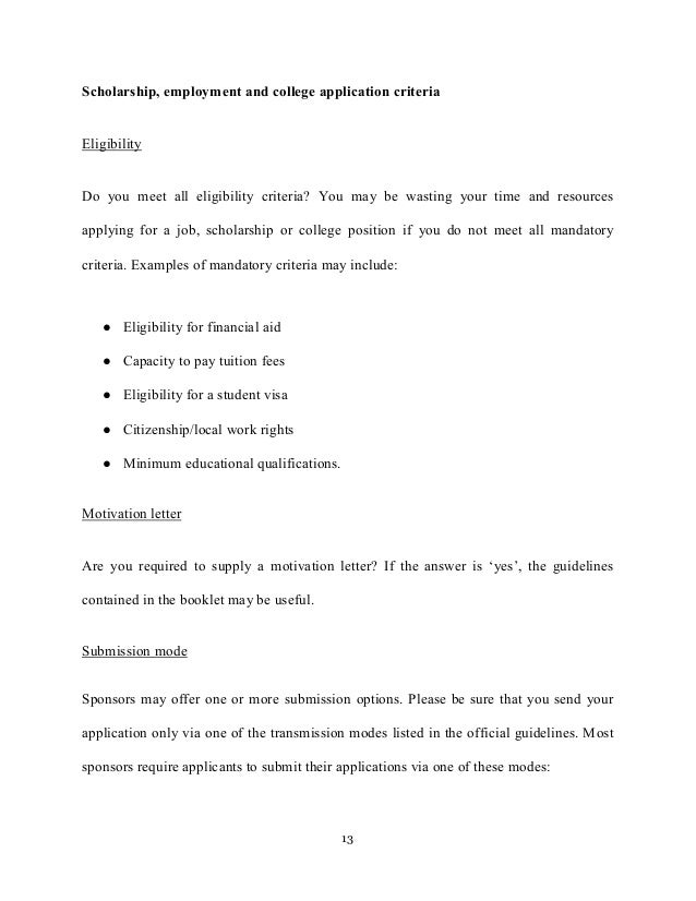 Motivation letter and motivation essays college applications sponsors mandate 13 altavistaventures Images