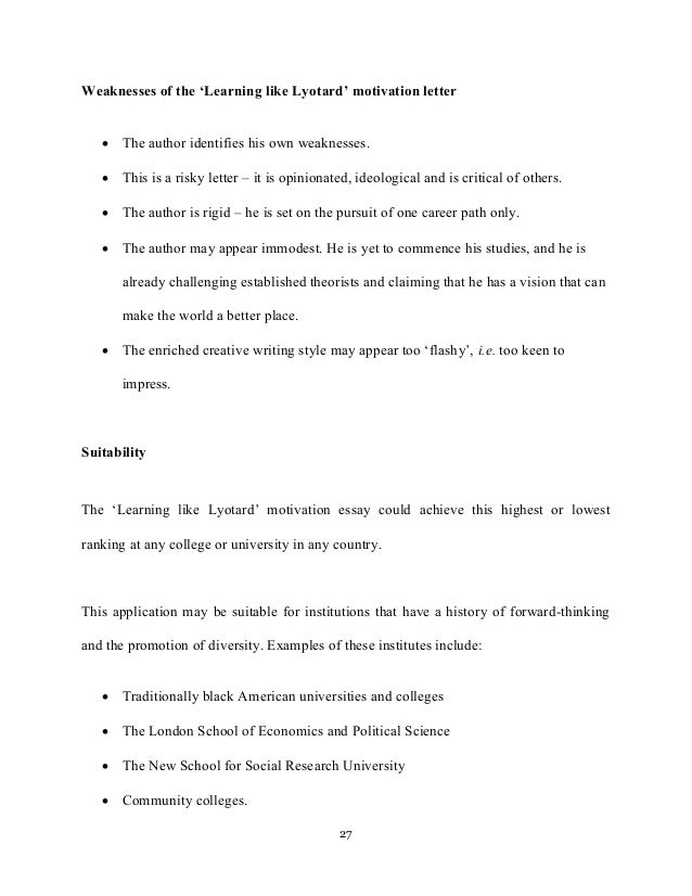 motivation letter and motivation essays college applications 27
