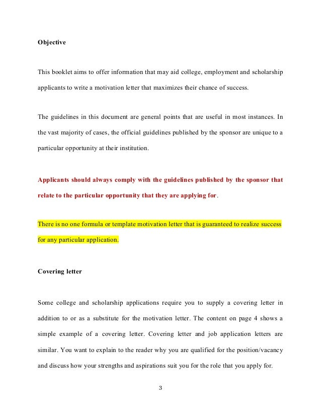 Motivation Letter And Motivation Essays College Applications
