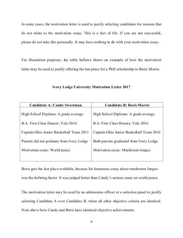 motivation essay