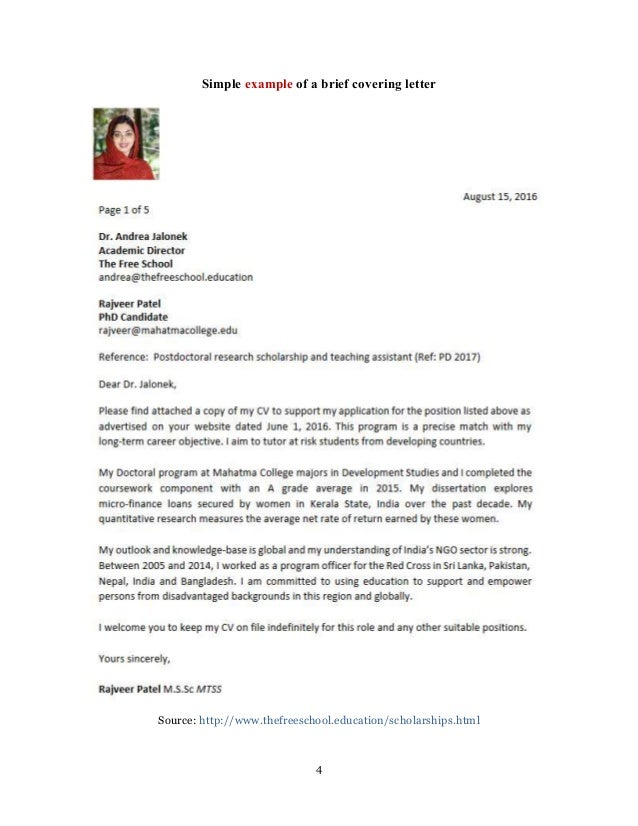 Motivation letter : college and scholarship applications