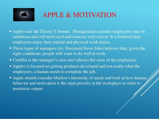 motivation theory on nike employees 3) goal-setting theory = a theory of motivation suggesting that employees are motivated to achieve goals that they and their managers establish together - goal should be very specific, moderately difficult, and one that the employee will be committed to achieve.