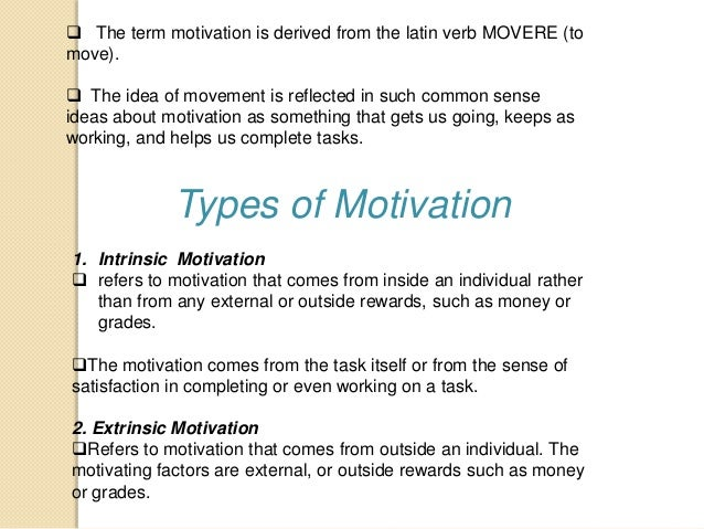 report about motivation This report summarizes new psychological and behavioral research around building motivation and shows how teachers can increase motivation by encouraging positive behaviors, improving their academic.