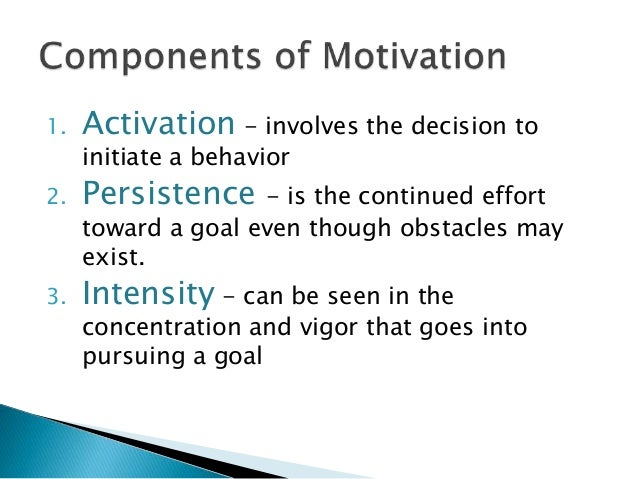 motivation as a key factor in learning Such stimuli are termed key stimuli or sign  they are also believed to function in relation to an individual's attention factor  learning theory: motivation.
