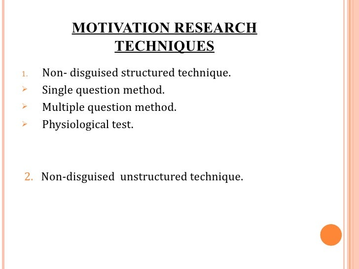 what is motivation in research