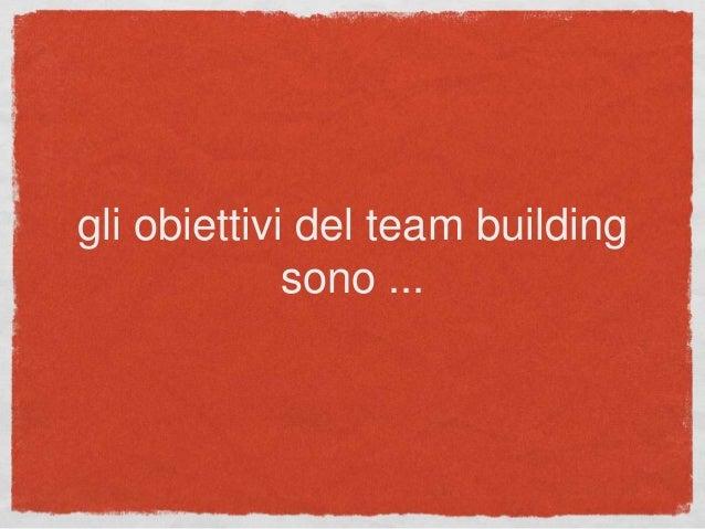 gli obiettivi del team building sono ...