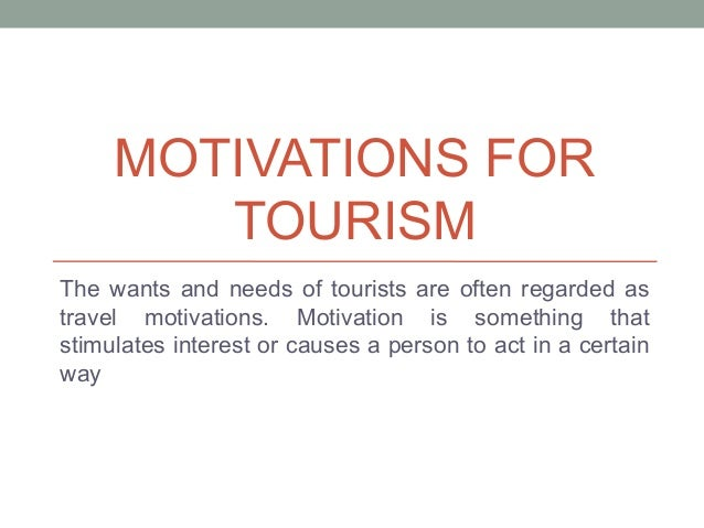 Typologies of Tourist Behaviour