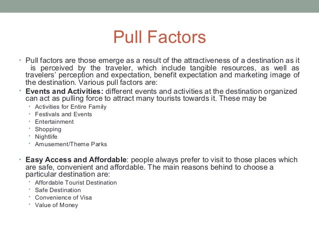 travel motivations and destination activities of Satisfaction and its relationship with tourism motivation and destination loyalty   (2008) claimed that people travel or indulge in leisure activities because.