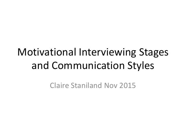 interviewing stages Download therapy worksheets to help implement motivational interviewing tools include a motivation ruler, stages of change, relapse prevention plans, and more.