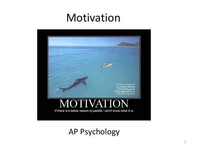 Motivation  AP Psychology 1
