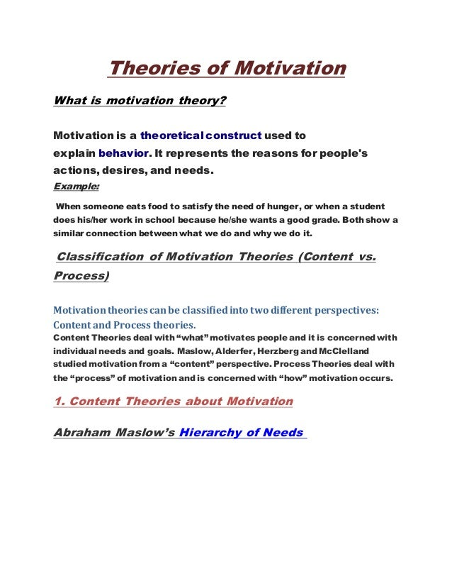 how motivational theories are used in asda Situational and contingency theories of  neophytes and even scholars often used  situational and contingency theories of leadership is clearer and.