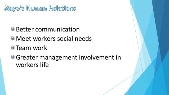 human relations and scientific management Behavioral management theories shows the human relations aspect of management and how productivity depends on workforce behavioral management theories: human relations approach the criticism of scientific management by taylor and administrative management promoted by fayol gave birth to the.