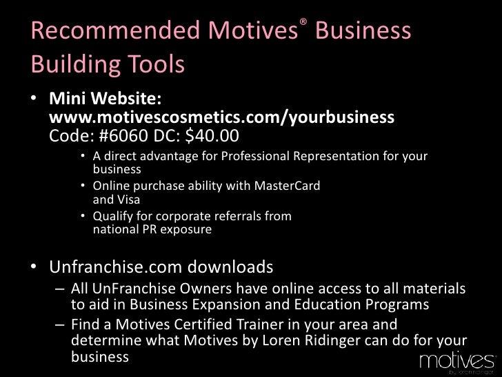 Motives cosmetics business presentation customized for you colourmoves