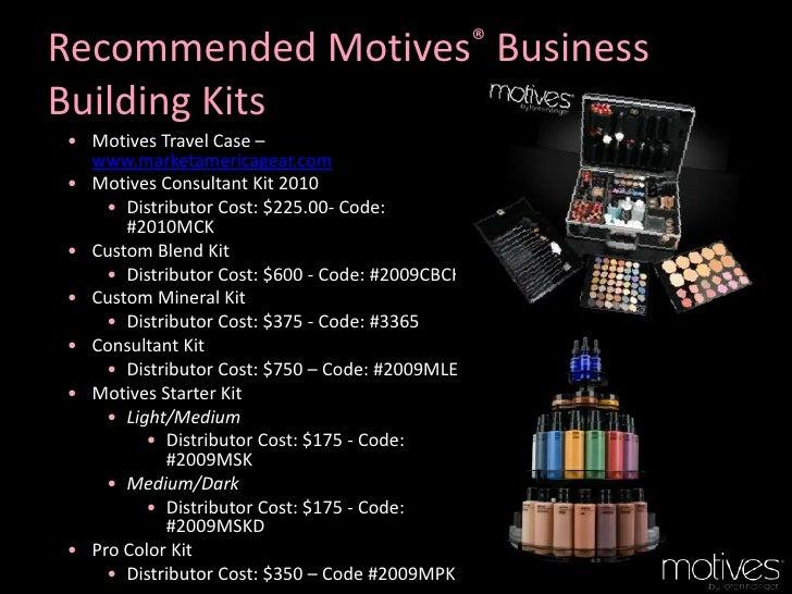 motives cosmetics business plan