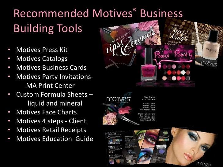 Motives cosmetics business presentation the wrong lighting colourmoves