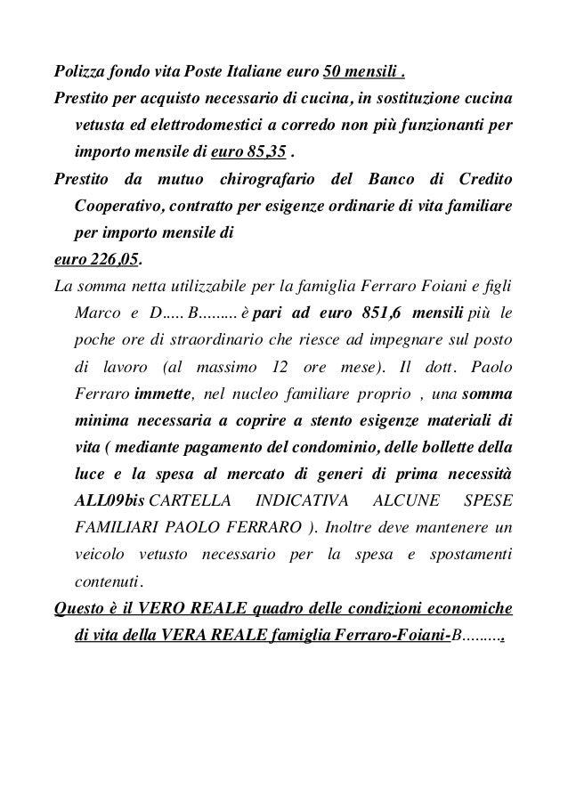 Polizza fondo vita Poste Italiane euro 50 mensili . Prestito per acquisto necessario di cucina, in sostituzione cucina vet...