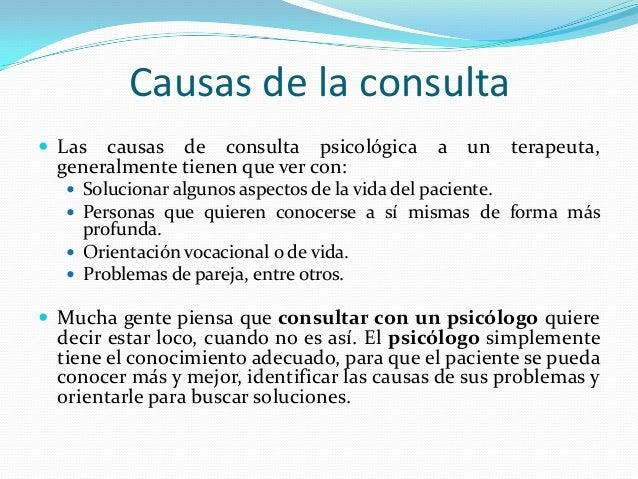 Motivo de consulta for Que es un consul