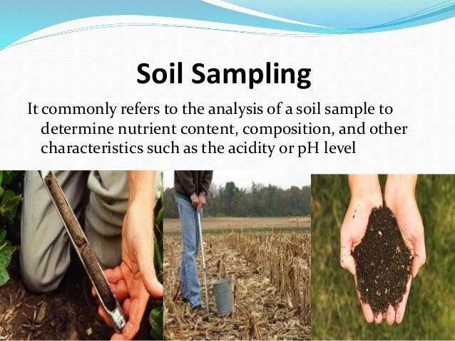 Soil sampling for Where to find soil